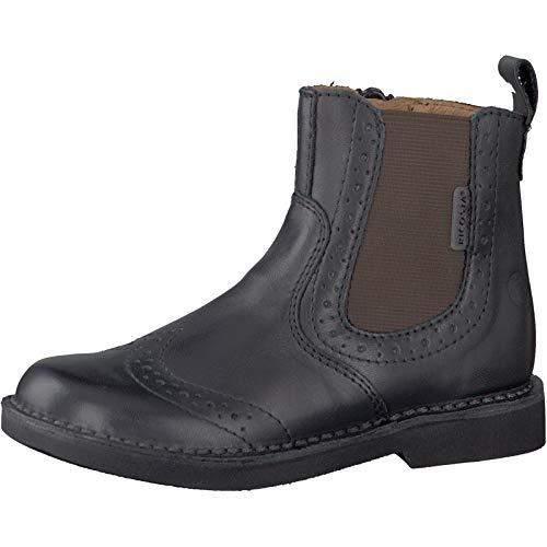 RICOSTA Pepino by Unisex - Kinder Chelsea Boots Dallas, WMS: Mittel, flach Kind-er Kids junior Kleinkind-er Kinder-Schuhe toben,schwarz,33 EU / 1 UK -