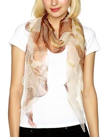 Bellewear Diamond Double Silk Women's Scarf Brown Multi One Size
