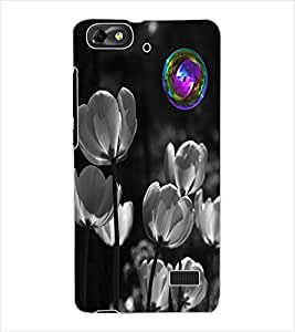 ColourCraft Flowers Design Back Case Cover for HUAWEI HONOR 4C
