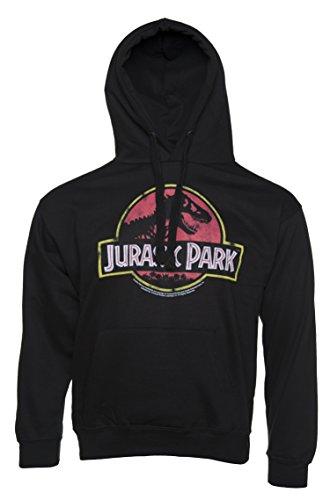 Jurassic Park Logo Hoodie (Distressed-schwergewichts-sweatshirt)