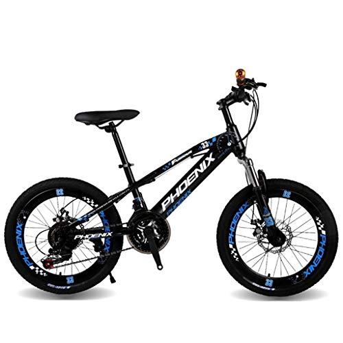 Kinderfahrräder Fahrräder 20 Zoll Geschwindigkeit Mountainbike Mädchen Junge Fahrrad Student Rennrad Outdoor Travel Fahrrad 5~15 Jahre Alt (Color : Blue, Size : 20inches) -