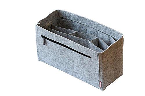 Classic Slash Taschenorganizer Handtaschenordner BaginBag aus Filz Grau, Large für Taschen ab 30cm Innenmaß (Zip-handtasche Top Large)