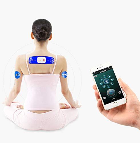 TENS Maschine Muskel Stimulatoren Clever APP Steuerung Kabellos Massagegerät Kleiner Haushalt Digital Meridian Physiotherapie 8 Massage-Modi 15 Intensität Einstellbar - Lademodus