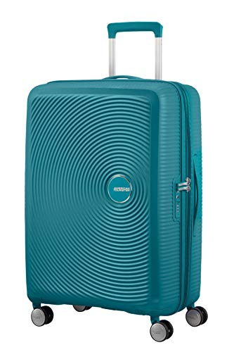 American tourister soundbox spinner medium expandable bagaglio a mano, verde (jade green),m (67 cm - 81 l)