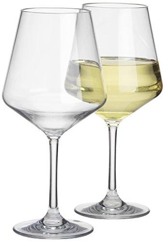 Flamefield SP1748 Savoy Standard Weinkelch, transparent, 2 Stück