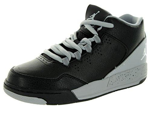 Jordan Nike Air Flight Origin 2BP Hi Top Trainers 705161Scarpe da Tennis, Nero (Black/White/Wolf Grey), 31 EU M Bambino