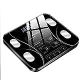 Lbellay Bilance per Il Controllo del Grasso corporeo Bluetooth, Bilancia Elettronica da Bagno Digitale, Bilancia Smart BMI, Monitoraggio della Composizione corporea,Black-30 * 30 cm