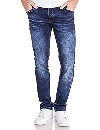 BLZ Jeans - Jean Bleu Effet usé Coupe Droite pour Homme b7a10a4ee82