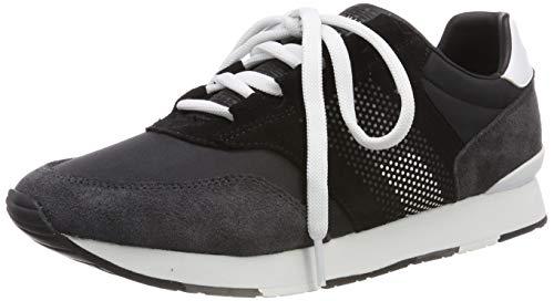 Tommy Hilfiger Herren CORPORATE MATERIAL MIX RUNNER Sneaker, Schwarz (Black 990), 43 EU