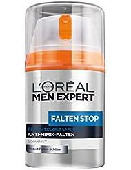 L'Oréal Men Expert Faltencreme Falten Stop Feuchtigkeitspflege – Anti Aging Creme für Männer mit hautstraffender Wirkung (ohne Alkohol) 1 x 50 ml