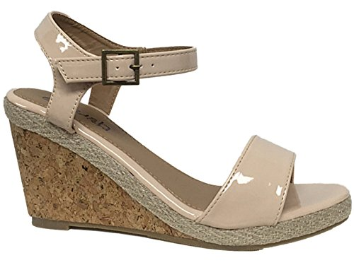 ladies-faux-leather-mid-wedge-raffia-snake-pu-fashion-sling-back-peep-toe-summer-sandals-shoes-size-