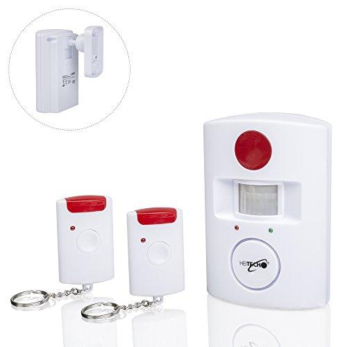 Auto-alarmanlagen-fernbedienung (Safe2Home® hochwertige drahtlose Infrarot Alarmanlage mit 2 Fernbedienungen Bewegungsmelder für Haus , Garage , Büro)