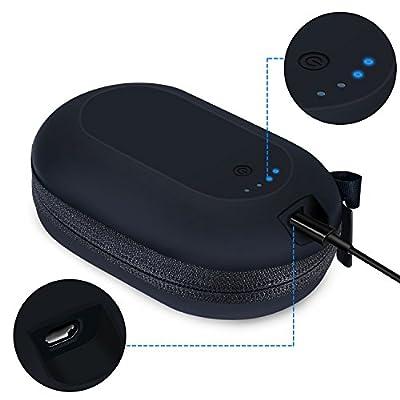 Double Sortie de Sortie sans Fil Bluetooth pour Casque Beats X Powerbeats 3 Bose quietcontrol 30 BeoPlay H5 H3 2 ND Chargeur de Batterie 2000 mAh par Magic Lin