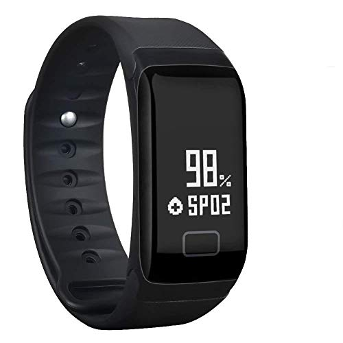 Waterproof Activity Wristband Pedometer Bluetooth - Fitness Tracker,Waterproof Activity Tracker with Heart Rate Blood Pressure Blood Oxygen Monitor,Smart Wristband with Calorie Counter Watch Pedometer Sleep Monitor Bluetooth Bracelet F1