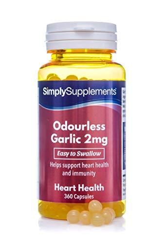 Aglio inodore 2 mg - 360 capsule - 1 anno di trattamento - SimplySupplements