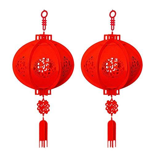 Neujahr Rot Papierlaternen Anhänger Laterne Frühlingsfest Laternen Chinesische Papierlaterne Chinesisches Neujahr Dekoration Rote Lampen Hochzeit Party Laternen ()