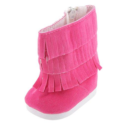 Moda Fucsia Scarpe Stivali Per La Bambola American Girl