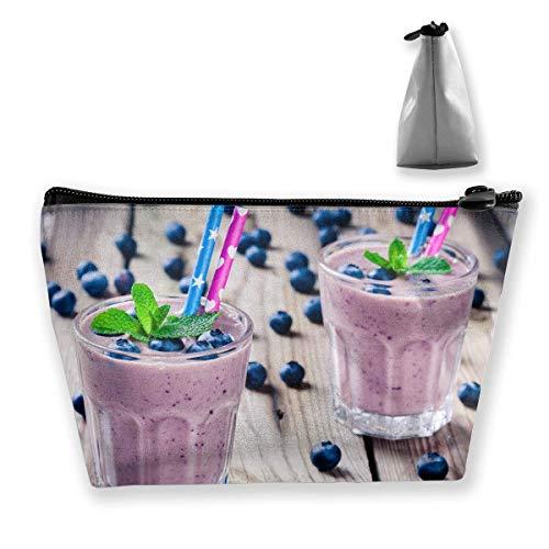 Trapez-Kulturbeutel Tragbare Reisetasche Brille Berry Yogurt Zipper Wallet