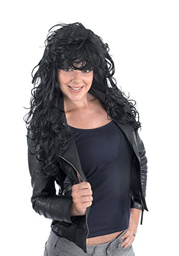 Bristol Novelty bw657 Rock Chick Perücke schwarz, One Size -