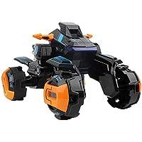 Markc La inducción de la deformación de control remoto de coches de control remoto de la motocicleta con un solo botón Transformación Robot King Kong de carga en las cuatro ruedas Stunt Racing muchach
