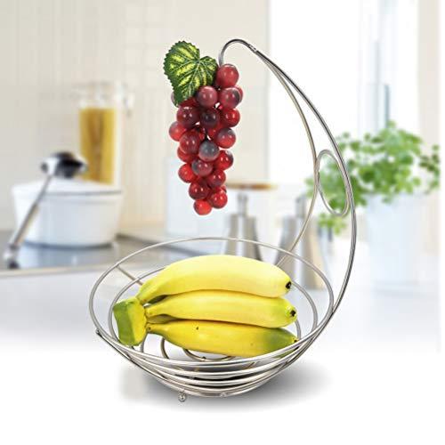 Corbeilles à fruits Support de fruit de cuisine, panier de fruit de fer créatif, présentoir de fruit à la maison d'hamac de raisin de raisin de banane -Bols et saladiers