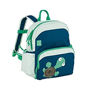 Lässig Lässig Kinderrucksack Medium Backpack Kindertasche mit Brustgurt, Wildlife Schildkröte, Blau Sac à dos enfants, 30 cm, Bleu (Blue)