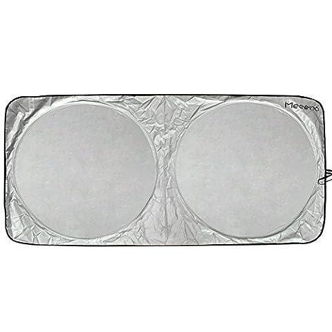 Pare-soleil de voiture, Pare-brise Avant Aluminium Isolant, Anti les Rayons UV, Adapté à Toutes les Fenêtres de la Voiture, avec un tapis antidérapant de téléphone(170*95CM)