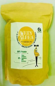 Omg Labs 100% Organic Grass Fed Whey Alpha 85% Protein - 1 Kg (Unsweetened Hydrolysed Whey)