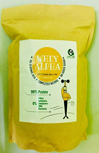 Omg Labs 100% Organic Grass Fed Whey Alpha 95% Protein – 1 Kg (Unsweetened Hydrolysed Whey)