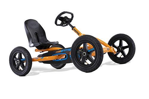 BERG Pedal-Gokart, Für Kinder von 3 bis 8 Jahren, Bis 50 kg, Buddy B-Orange, Orange