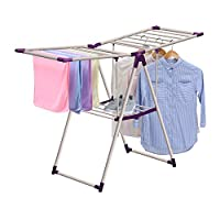 Imperial Rooms Winged Clothes Air Dryer Folding Airer Metal Air Dryer Laundry Drying Rack Foldable Dryer for Clothes Easy Useable