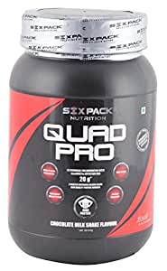 Six Pack Quad Pro Nutrition Blend Protein - 1 kg (Chocolate Milkshake)