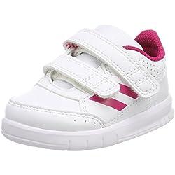 adidas Altasport CF I, Zapatillas para Bebés, Blanco Bold Pink/Footwear White 0, 21 EU