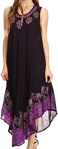 Kaftan-Behälter-Kleid/Cover Up - Purple - OS ()