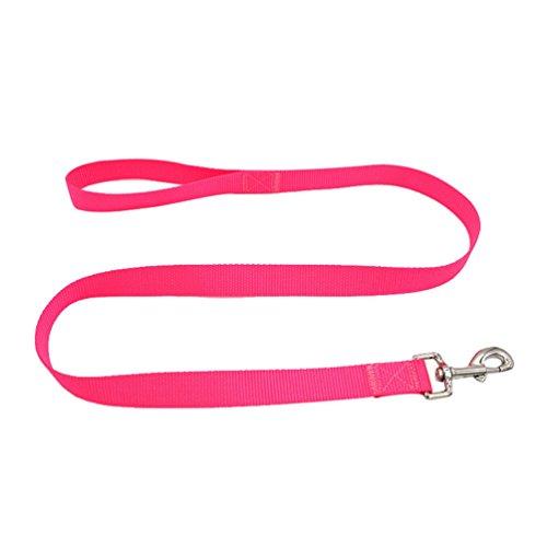 Yuncai Haustier Hund Brustgurt Geschirr Einfach Atmungsaktiv Gemütlich Leine Pink2 M