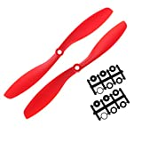 ZJL220 2pcs Plastique 8045 Prop CW CCW Hélices pour RC Quadcopter Multirotor Plane Red
