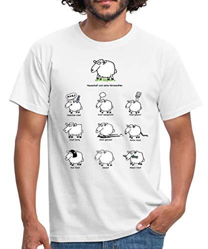 Schafe Lustige Schafkunde Witziges Schäfchen Männer T-Shirt, XXL, Weiß