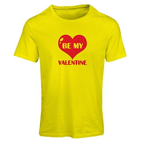 Frauen T-Shirt Sei mein Valentinsschatz, Zitate und Sprüche über Liebe super Geschenk (Medium Gelb (Kostüme Ideen Hobo)