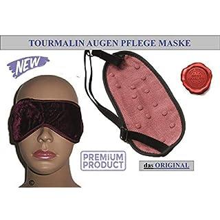 ALW CZs.r.o. Turmalin Magnetik Augenschlafmaske weinrot-1 Stück