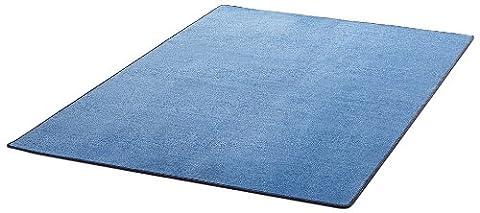 Hanse Home 101153 Uni Teppich 140 x 200 cm, blau