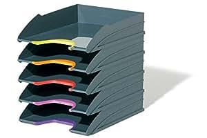 Durable 770557 Varicolor Ablageschalen Set, 5 Stück, anthrazit