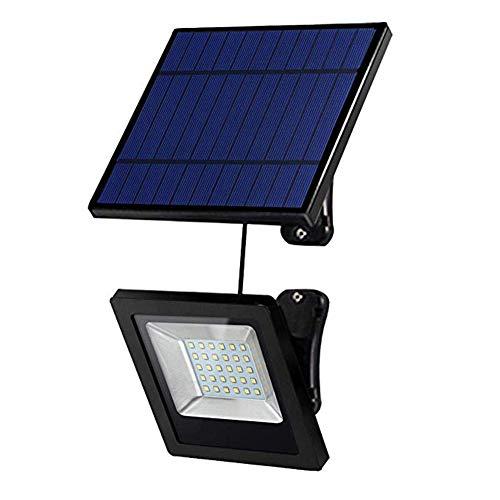 Luces solares al aire libre, luces solares impermeables IP65 luz blanca, foco de 30 LED,...