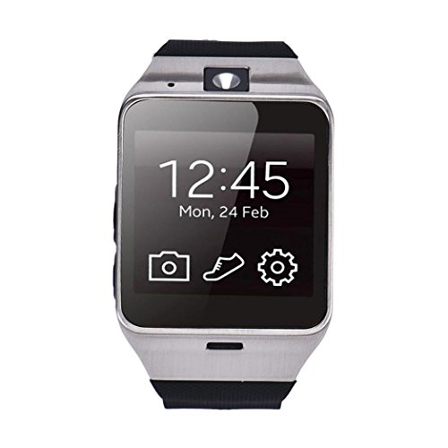 Reloj-InteligenteXinan-Aplus-GV18-Impermeable-Telfono-GSM-NFC-para-Samsung-iPhone-Negro