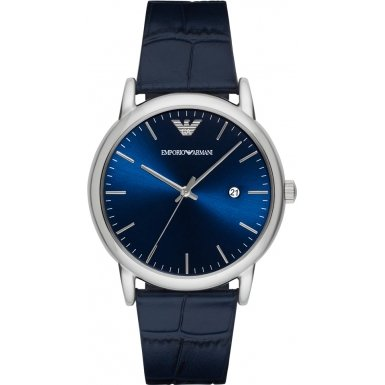 Emporio Armani Herren-Armbanduhr Analog Quarz One Size, blau, blau