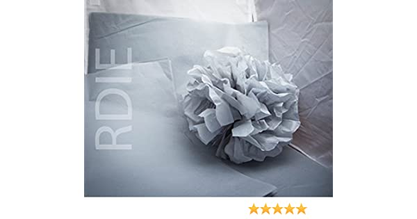 24 Sheets of Light Grey Tissue Paper Sized 37 x 50cm 18g