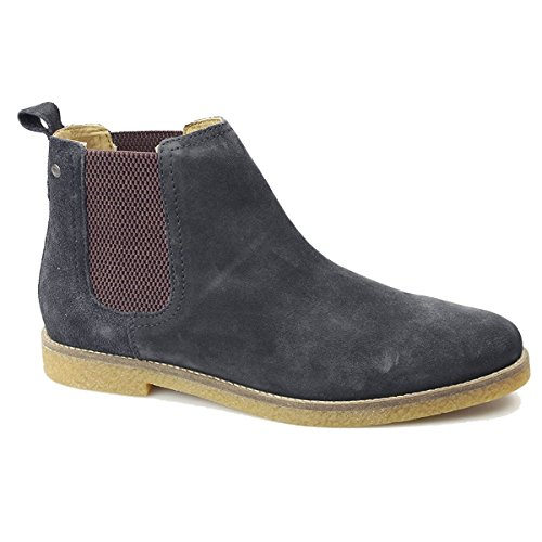 Base London Mens Ferdinand Suede Boots Bleu