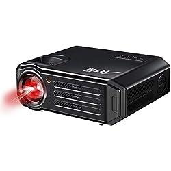 Proyectores, Artlii Proyector HD de 3500 Lúmenes, soporta 1080p Full HD, HDMI x 2, VGA, USB, SD, AV e Interfaz de Auriculares, Proyector LCD Home Cinema, para PC TV Laptop iPhone iPad-Negro