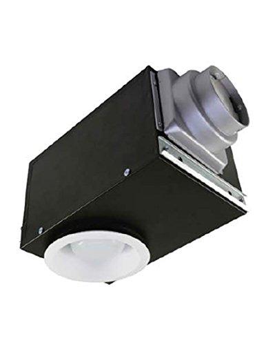 Airzone Fans se80rvlh Einbauleuchte Auspuff Belüftung Fan mit 16W, fluoreszierendes Licht und sehr leiser Motor, Luftfeuchtigkeit Sensor, 0,9Sone, 80CFM von Airzone Fans (Cfm-motor)