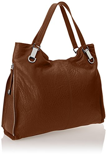 Vince Camuto, Borsa a spalla donna grigio grey Golden Brown