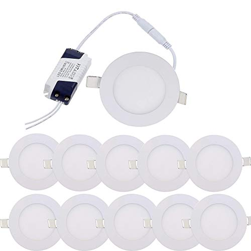 10X 6W Blanco frio Downlight Led Empotrable en Techo Redondo Superficie Focos...